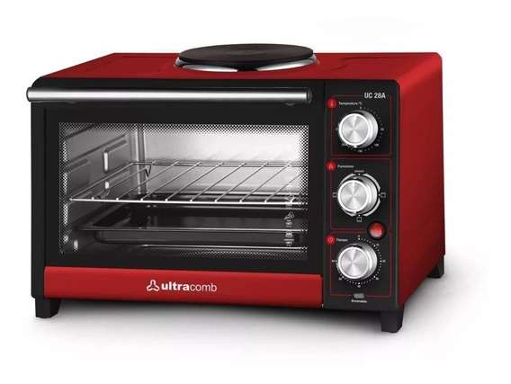 Horno Electrico Ultracomb Uc-28a 28lts 1500wts Grill+anafe