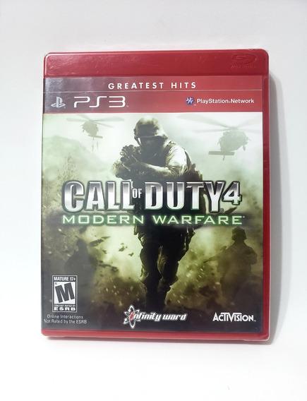 Jogo Call Of Duty 4 Modern Warfare Ps3 Mídia Física Lacrado