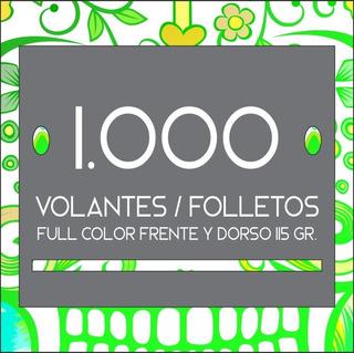 1.000 Volantes / Folletos Full Color Frente Y Dorso. 115 Gr