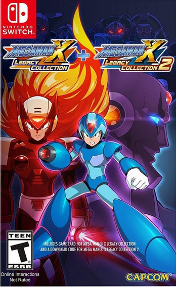 Jogo Mega Man X Legacy Collection 1 E 2 Nintendo Switch