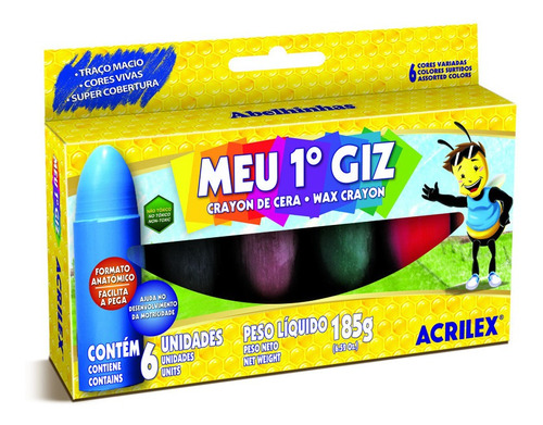 Crayones De Cera - Mi 1° Crayón Acrilex 6 Colores