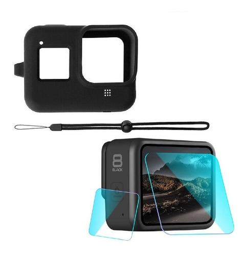 Kit De Protección Con Mica Cristal Para Gopro Hero 8 Black