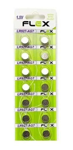 Pilha Lr927 Lr57 Ag7 Bateria Lr927 Ag7 Lr57 1,5v - 1 Cartela 14 Unidades