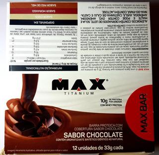 Max Bar 12x33g Chocolate