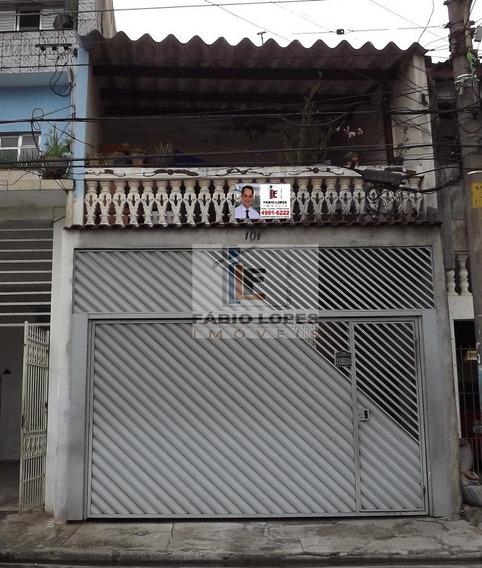 Casa A Venda No Bairro Vila Palmares Em Santo André - Sp. - 207-1