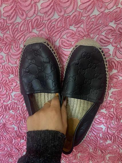 Flats Espadrilles Gucci Originales 1 Puesta
