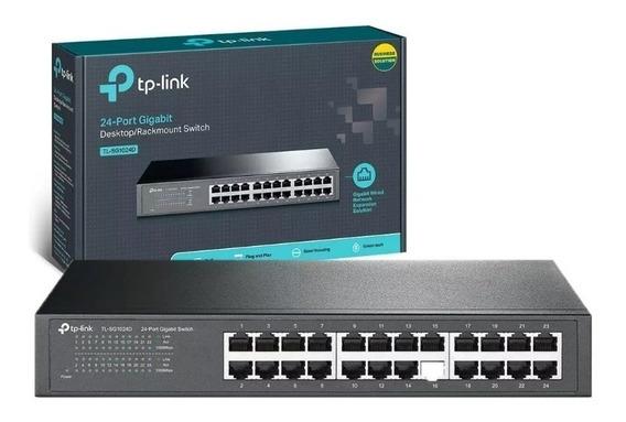 Switch 24 Portas Gigabit 10/100/1000 Tp-link Tl-sg1024d
