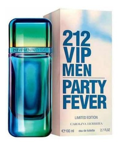 212 Vip Men Party Fever Carolina Herrera Edt - 100ml