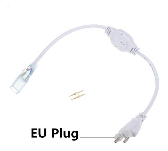 Conector Plug Tomada Fonte Mangueira Led Chata Bivolt