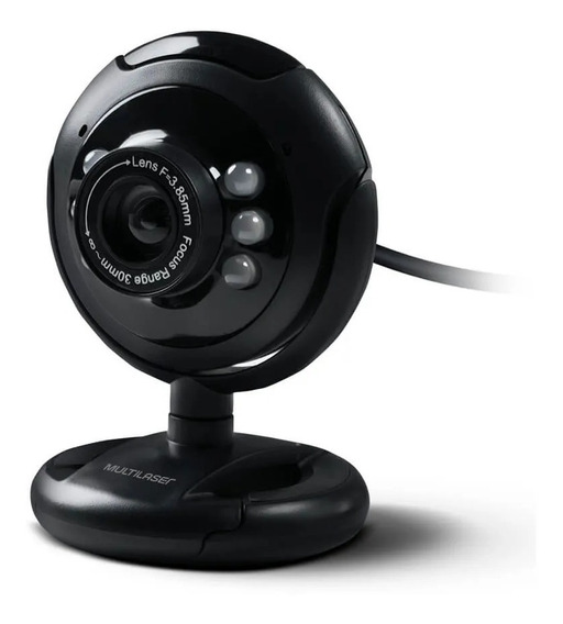 Webcam Multilaser Plug E Play 16mp Nightvision Preto Wc045