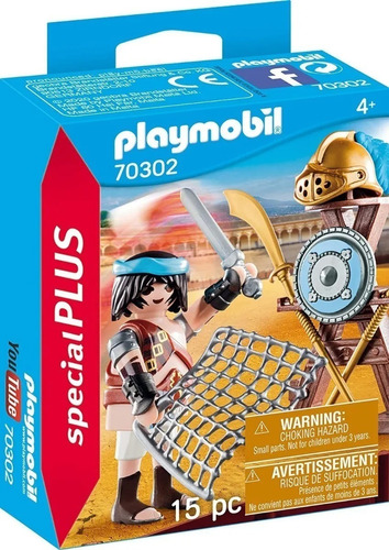 Imagen 1 de 7 de Playmobil Gladiador Guerrero Figura Special Plus 70302 Edu
