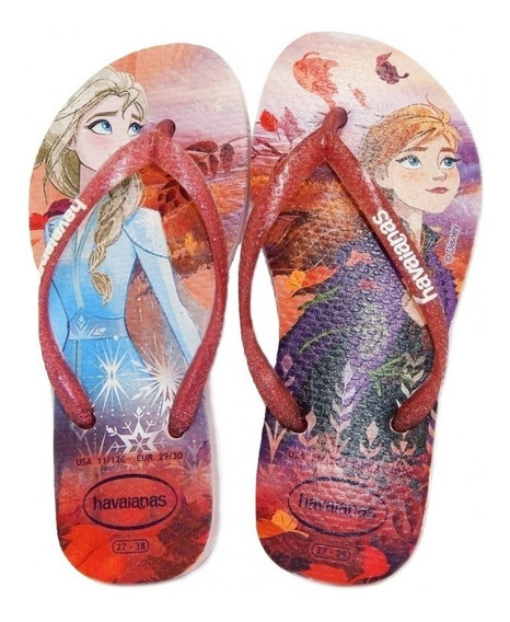 Chinelo Havaianas Kids Slim Frozen Original - Rosa