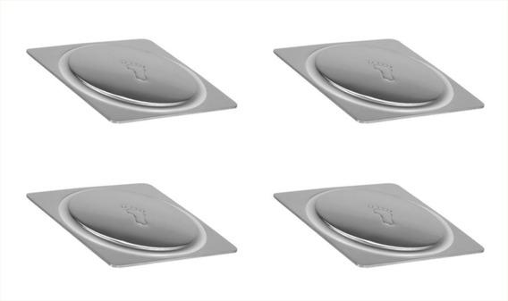 Ralo Click Inteligente Inox 10x10cm Pop Up Kit C/04 Unidades