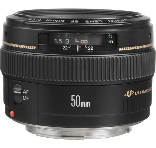 Lente Canon Ef 50mm F/1.4 Usm - Lacrada Na Caixa Com Nf