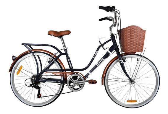 Bicicleta Monk Loving Urbana Rodada 24 7 Velocidades
