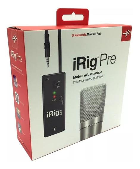 Irig Pre Ik Pré Amplificador Microfone iPhone iPad Android
