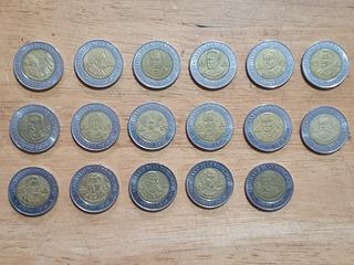 Lote 17 Monedas 5 Cinco Pesos Centenario De Revolución