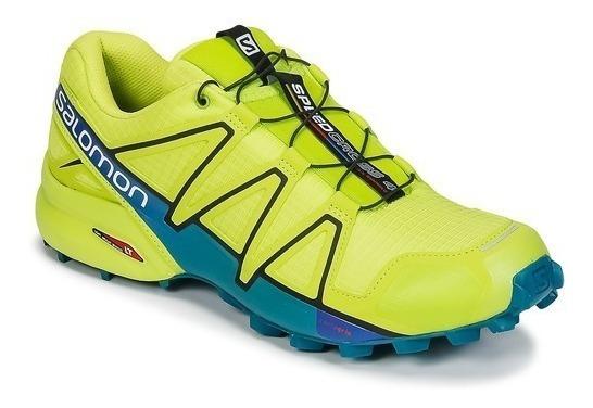 Zapatilla Salomon Speedcross 4 Hombre Verde Fluor Trail Run