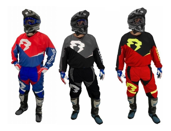 Conjunto Moto Rpmcross Rider 19 Extra Grandes Solomototeam