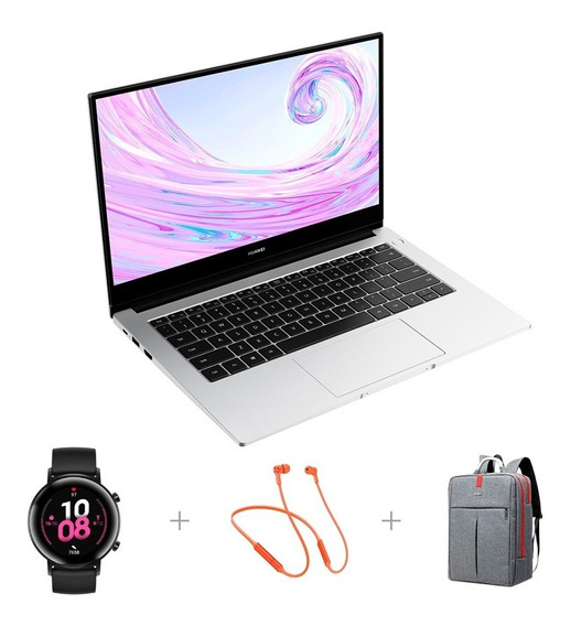 Huawei Matebook D 14 512gb + Huawei Freelace + Reloj Gt2 42