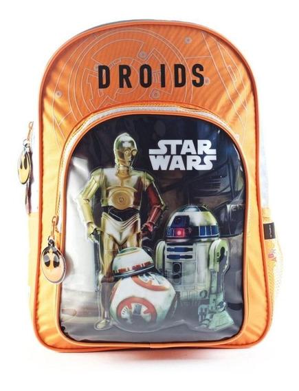 Mochila Star Wars Droids Escolar Niños Original Nva