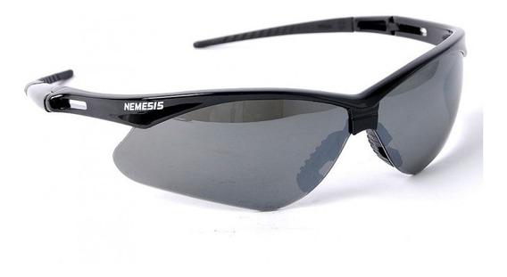 Óculos Segurança Esportivo Nemesis Preto Proteção Uv Com Ca