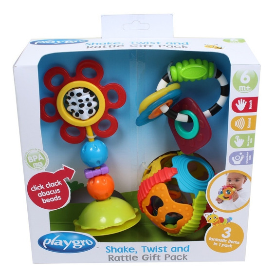 Juguete Para Bebe Twist And Rattle Gift Pack Playgro