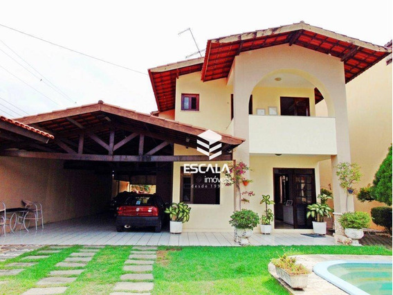 Casa Duplex Com 3 Quartos À Venda, 327m2, Piscina, 8 Vagas, Financia - Lago Jacarey - Fortaleza/ce - Ca0220