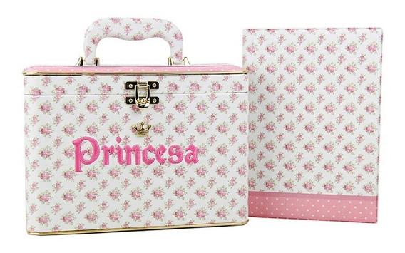 Maleta Princesa Luxo Com 5 Álbuns 200 Fotos 15x21