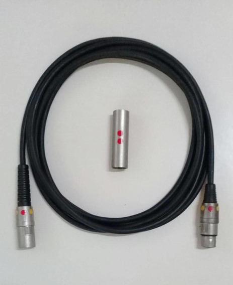Cable Para Micrófono Marca Audiopipe Con Plug Xlr (3,5 Mtrs)