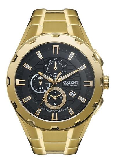 Relogio Masculino Cronografo Orient Mgssc008 P1kx Dourado