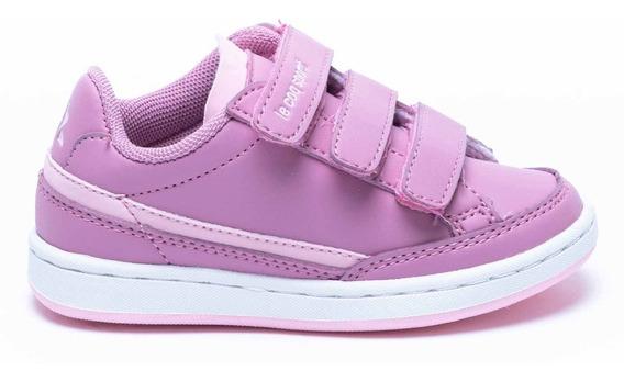Zapatillas Le Coq Sportif Para Nena Con Velcro Courtclay