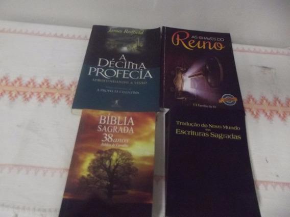 2 Bíblias Sagrada E 2 Livros Religiosos