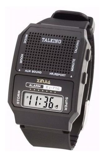 Relógio Fala Hora Alarme Digital Unissex Idoso Barato Top