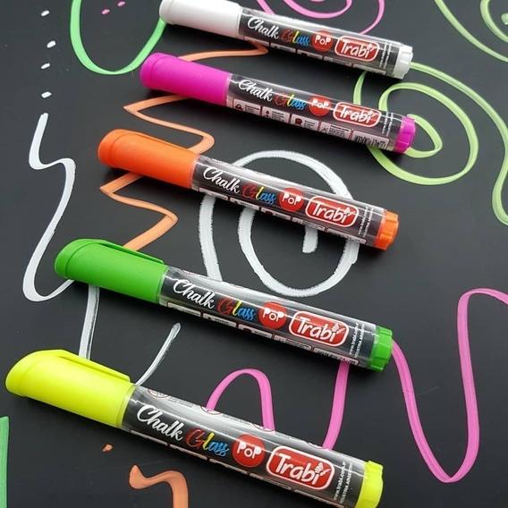 Marcador Chalk Glass Trabi Tinta Pigmentada Vidrio Tiza X 1