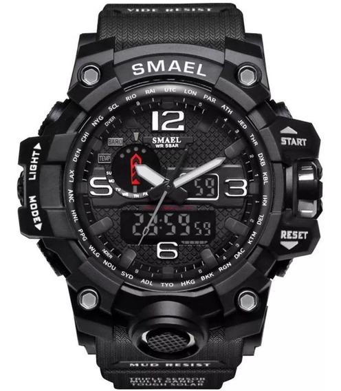 Relógio Tático Militar Smael Black 1545