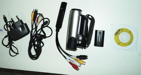 Filmadora Samsung Mini-dv Sc - D364 + Placa De Vídeo Usb