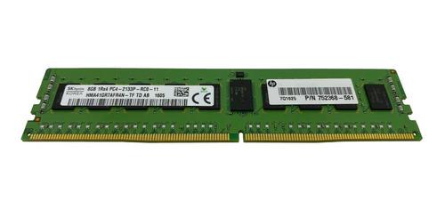 Imagem 1 de 7 de Memoria Registrada Ddr4 8gb Pc4-2133p Hp Proliant Ml150 G9