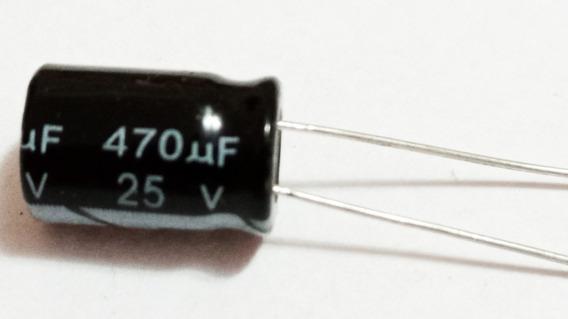 Capacitor Eletrolítico 470uf X 25v 105° 10 Pçs Frete Grátis