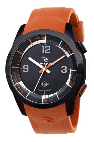 Relogio De Pulso Ripcurl Launch Heat Timer - Aço/laranja