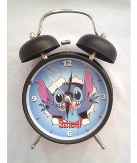 Stitch Infantil Reloj Despertador Retro Vintage Campana