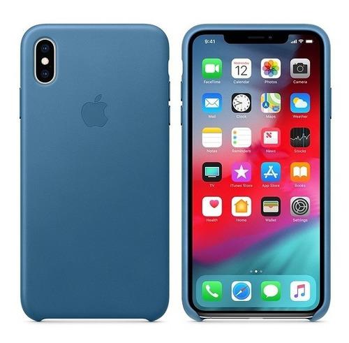 Carcasa En Cuero Para iPhone XS Max Varios Colores