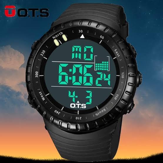 Relógio Ots Militar Black - 48mm - Silicone - Mergulho