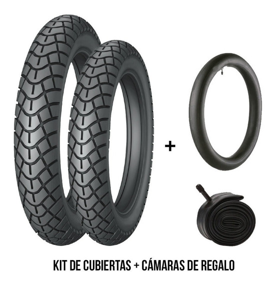 Kit Combo Cubierta Drook 2.50-17 Y 2.75-17+cam Drook Regalo