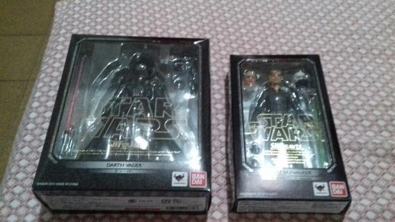 Sh Figuarts Luke Skywalker + Darth Vader - Frete Grátis