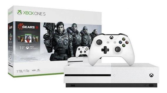 Console Xbox One S 1tb Pacote Gears 5 Jogos Nacional Com Nf