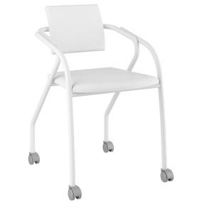 Cadeira Para Escritório 1713 Carraro Com Rodízios - Branco