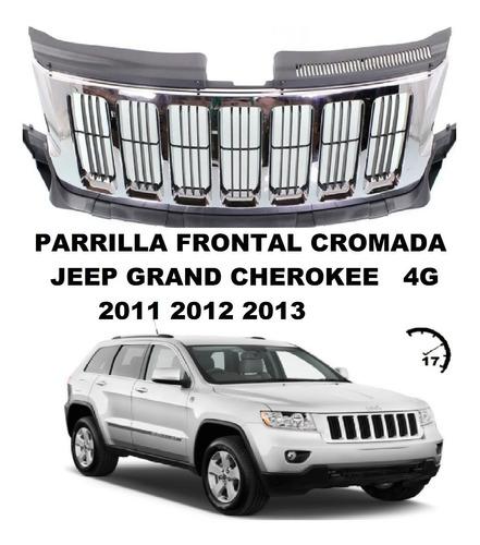 Parrilla Frontal Cromada Jeep Grand Cherokee 4g 2011 12 2013