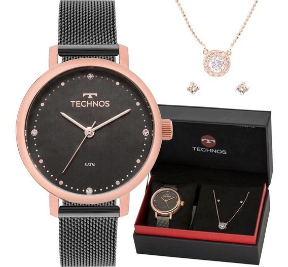 Relógio Feminino Technos 2035mmo/k5c Grátis Semi-joia