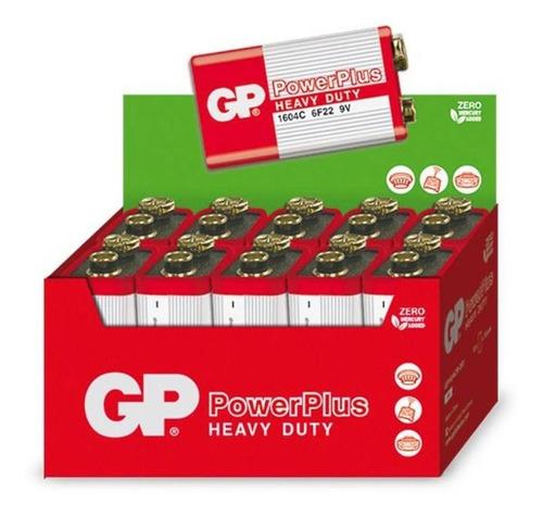 Imagem 1 de 5 de 10 Baterias Pilhas 9v Comum Powerplus Gp Zinco Carvão - 1 Cx